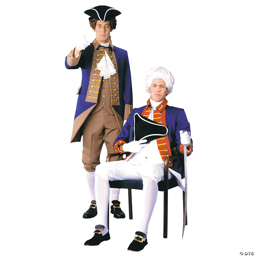 Men's American Revolutionary Officer Costume