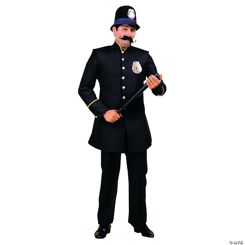 Men's Black Keystone Cop Costume