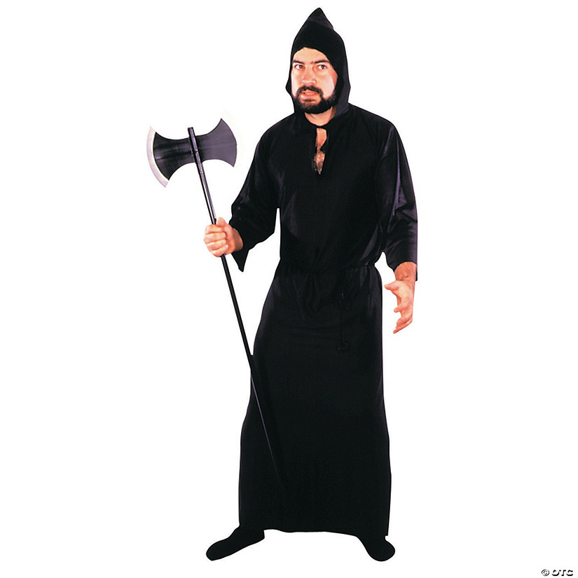 Men's Black Masquerade Robe Costume Audio Thumbnail