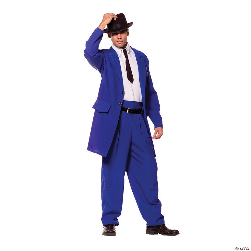 Men's Blue Zoot Suit Costume