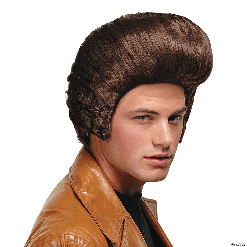 Men's Brown Pompadour Wig
