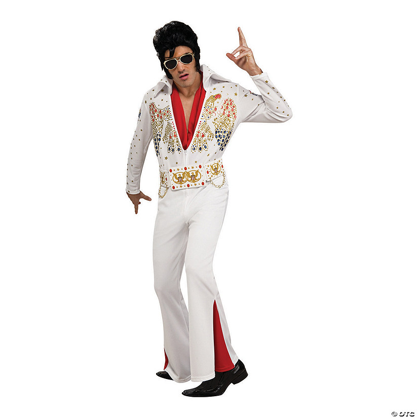Men's Deluxe Eagle Jumpsuit Elvis Presley Costume Audio Thumbnail