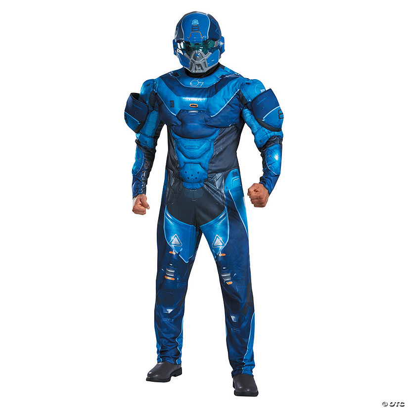 Men S Deluxe Halo Blue Spartan Costume