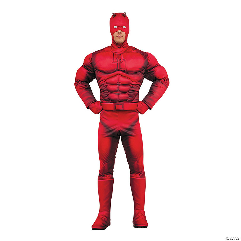 Men's Deluxe Muscle Chest Daredevil Costume