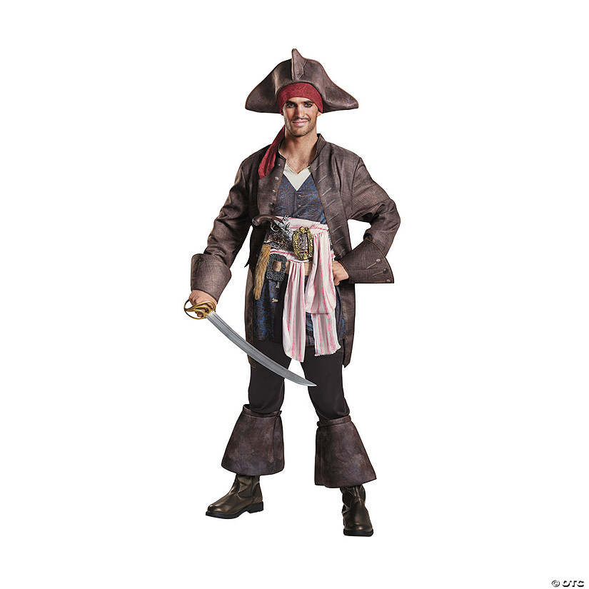 Men's Deluxe Pirates of the Caribbean 5 Captain Jack Costume Audio Thumbnail