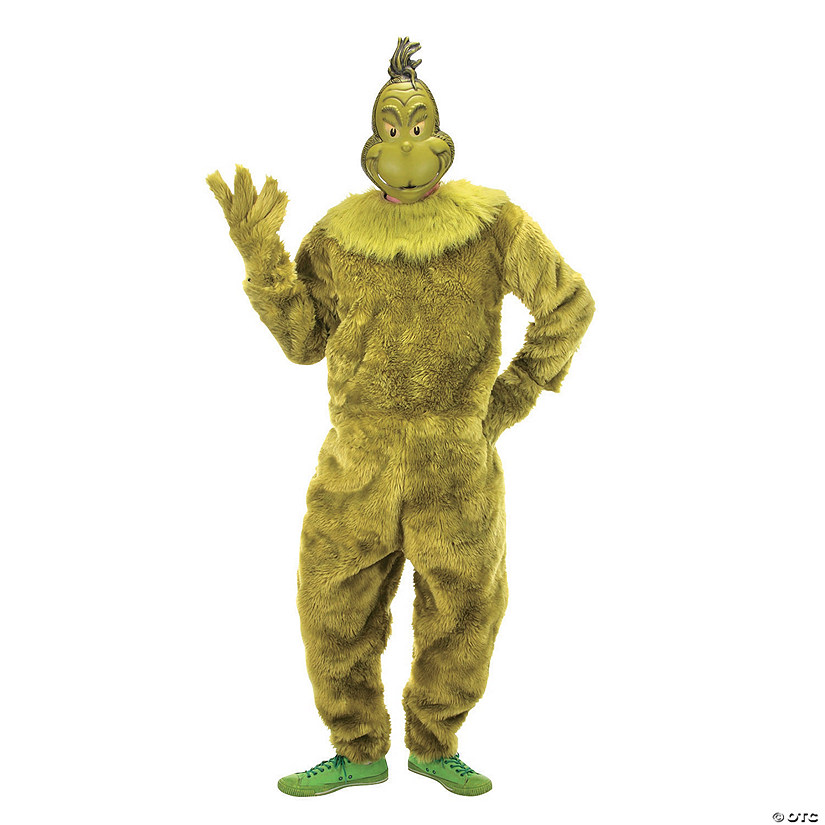 Men's Dr. Seuss™ The Grinch Deluxe Jumpsuit Costume - Large/Extra Large Audio Thumbnail