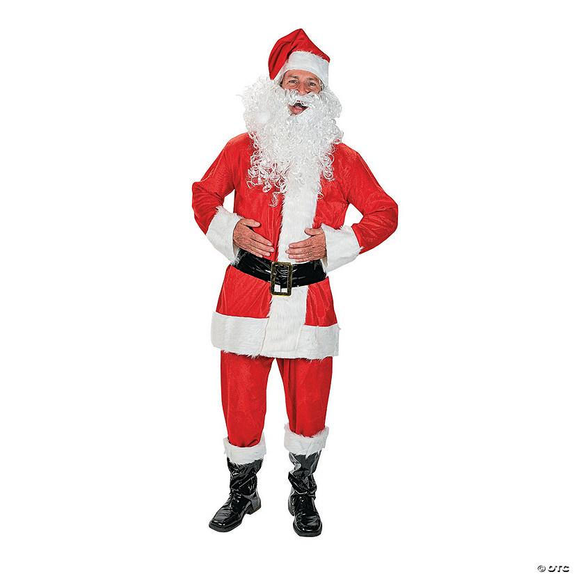 37961b034a029 Men s Faux Velvet Santa Costume