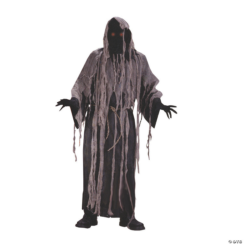 Men's Flashing Eyes Gauze Zombie Costume