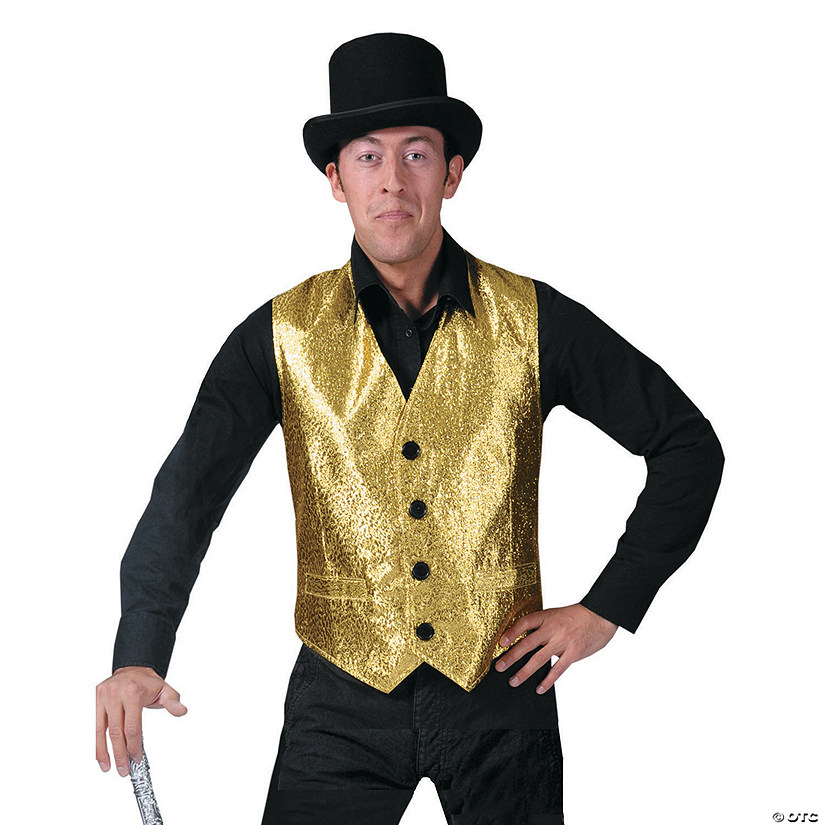 Men's Gold Vest Costume - Extra Large Audio Thumbnail
