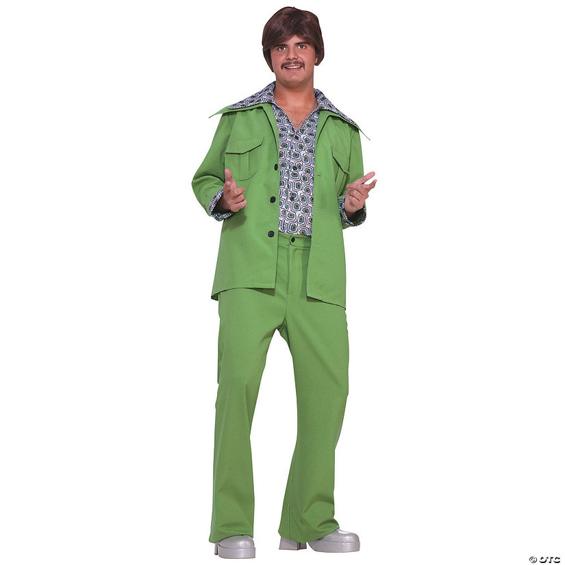 Men's Green Leisure Suit 70s Costume