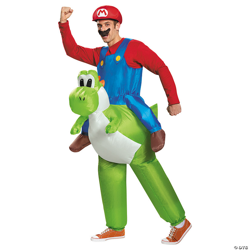Men's Inflatable Mario Riding Yoshi Costume Audio Thumbnail