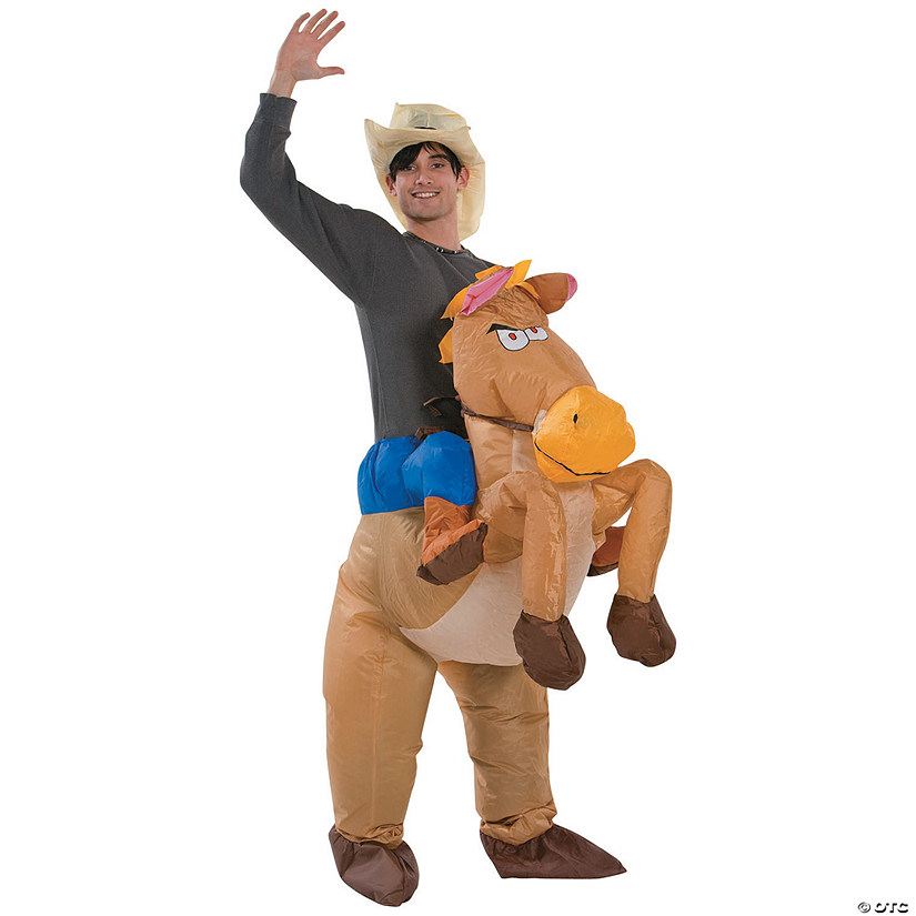 Men's Inflatable Riding on Horse Costume Audio Thumbnail