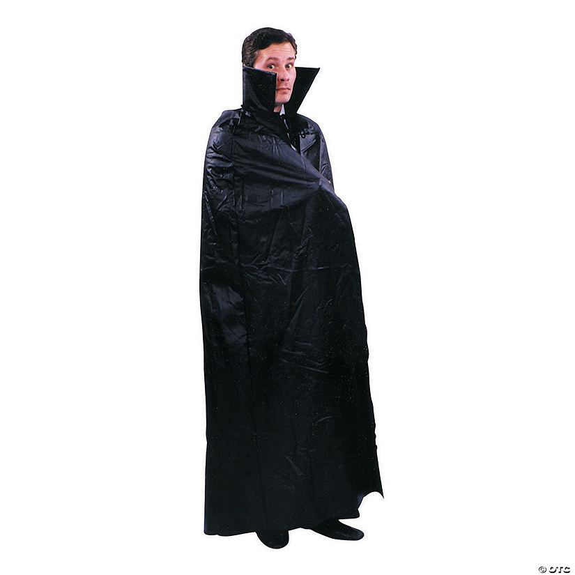 Men's Leather Like Dracula Cape Costume