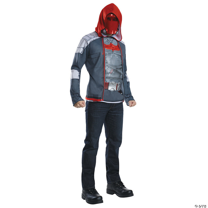 Men's Muscle Chest Red Hood Costume - Large Audio Thumbnail