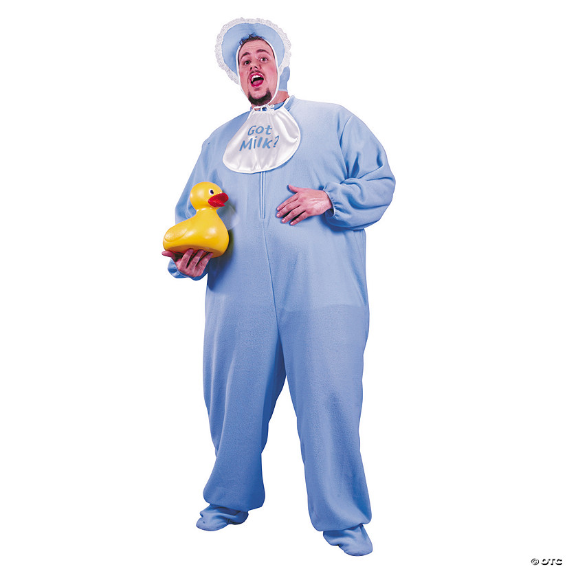 Men's Plus Size Blue PJ Jammies Costume Audio Thumbnail