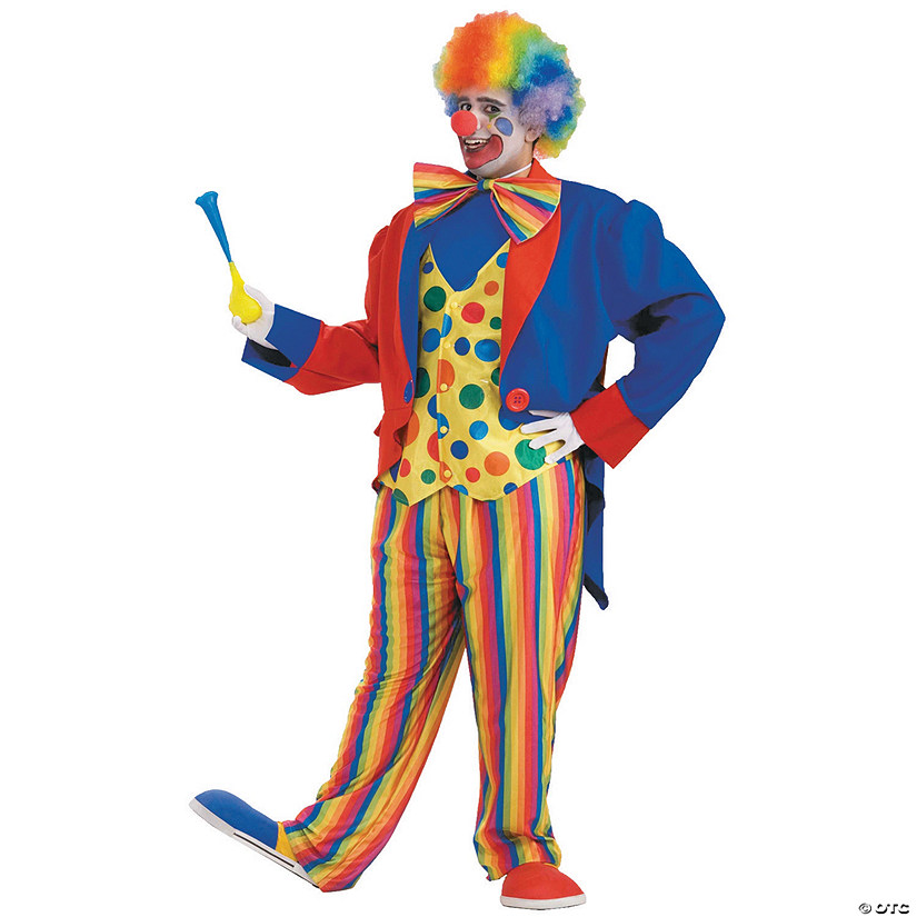 Men's Plus Size Clown Costume