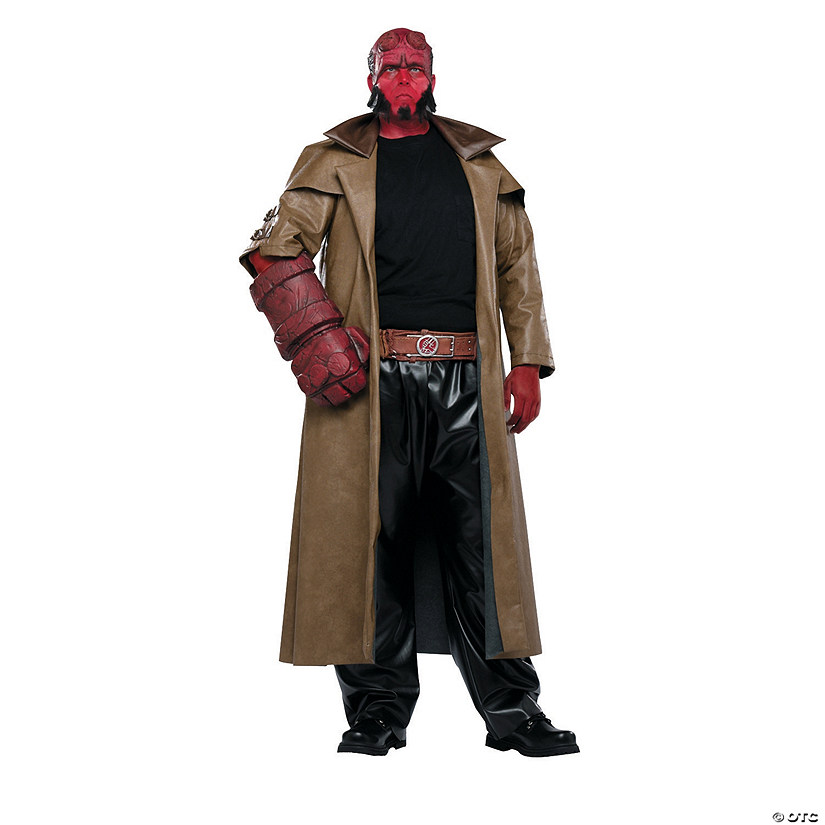 mens plus size full hellboy costume