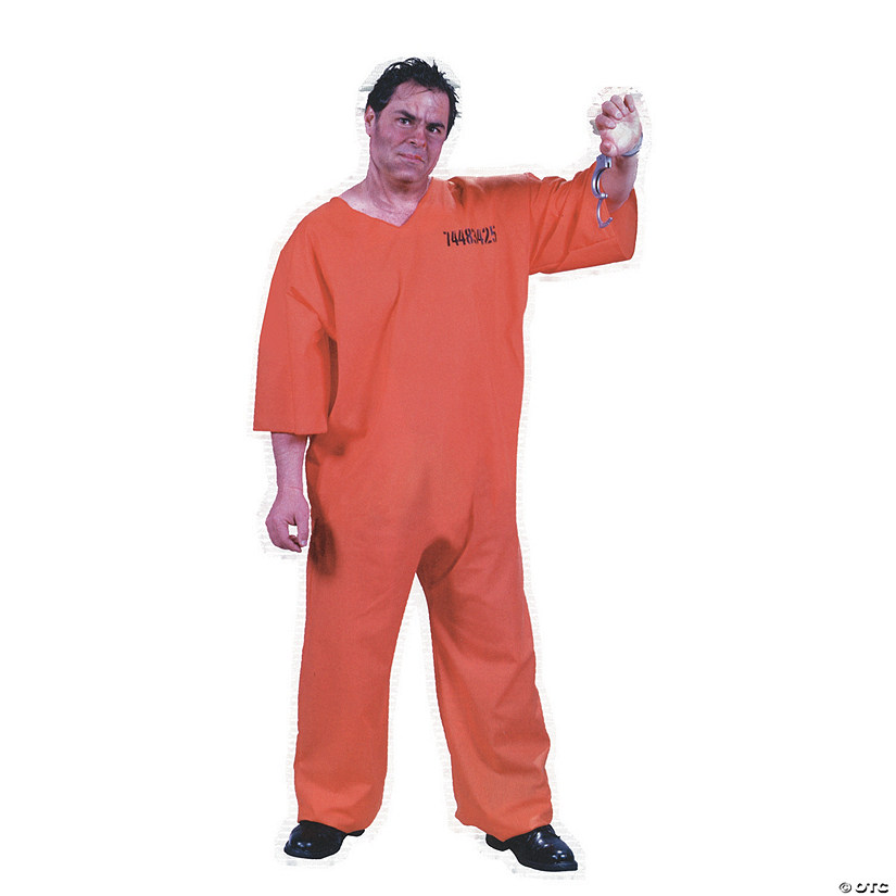 Men's Plus Size Got Busted Prison Costume