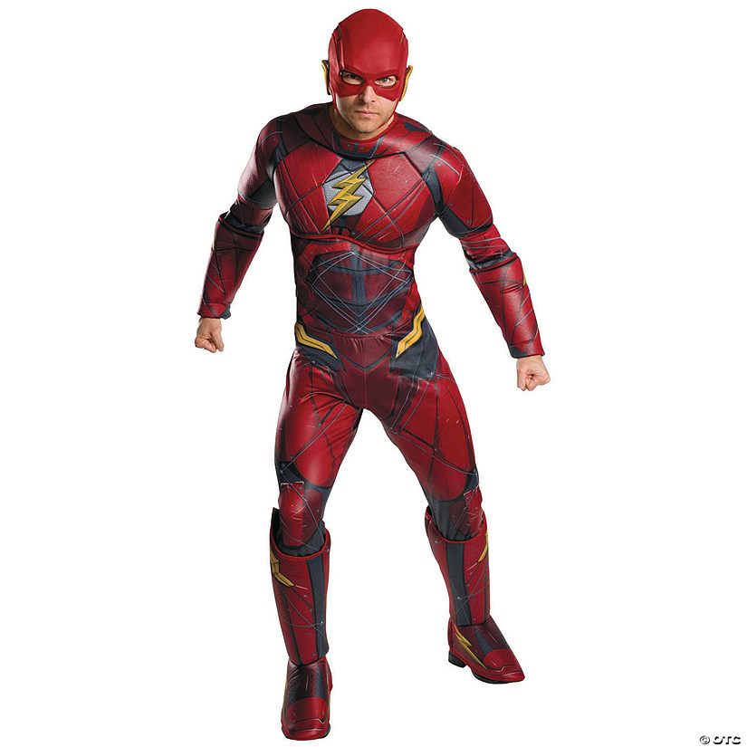 Men's Plus Size Justice League The Flash Costume