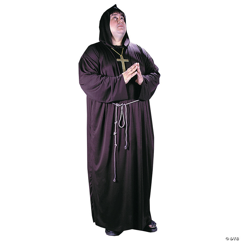 Wooden Monk Cross Priest Brown Fancy Dress Up Halloween Costume Accessory