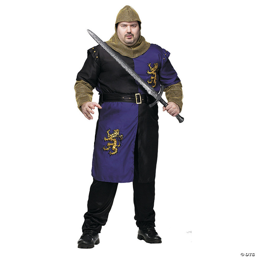 Men's Plus Size Renaissance Knight Costume
