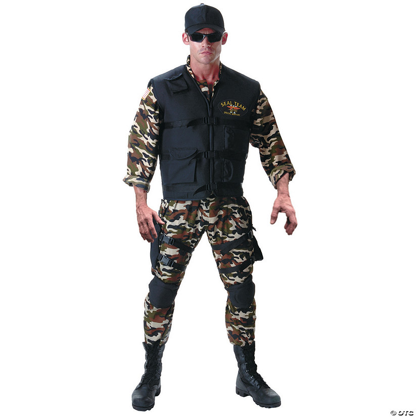 Men's Plus Size Seal Team Costume Audio Thumbnail