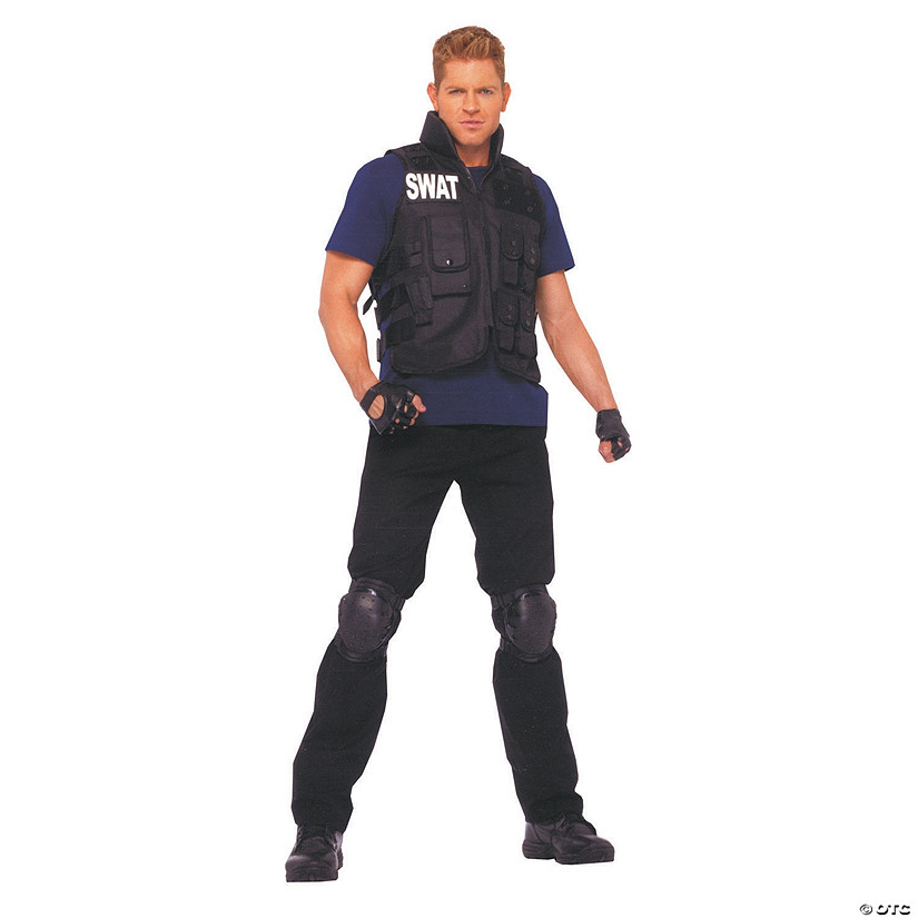 Men's Plus Size SWAT Costume