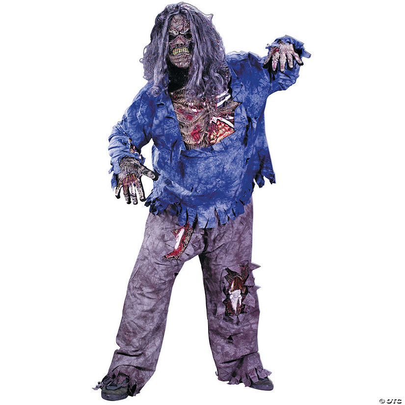 Men's Plus Size Zombie Costume