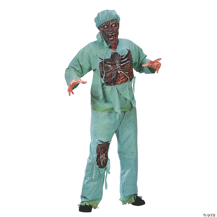 Men's Plus Size Zombie Doctor Costume