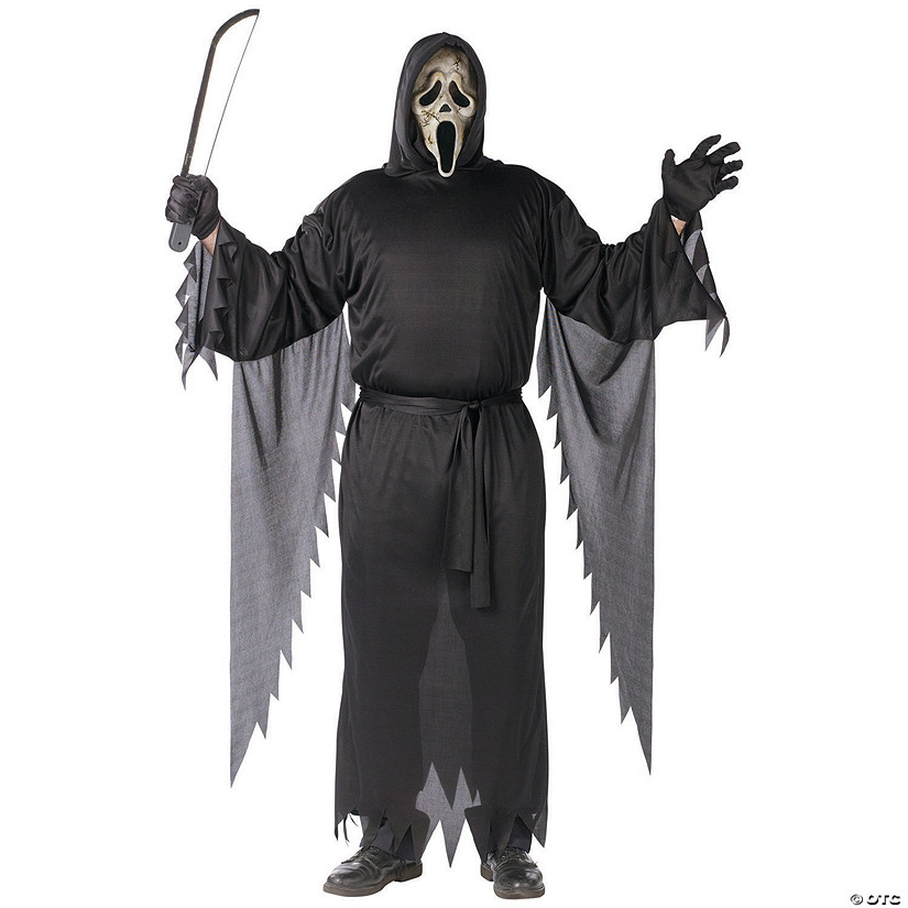 Men's Plus Size Zombie Ghost Face Costume
