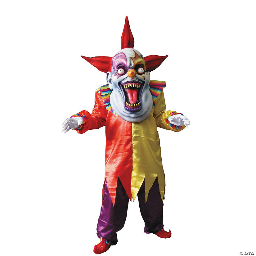 Men's Red Yellow Evil Clown Costume Audio Thumbnail