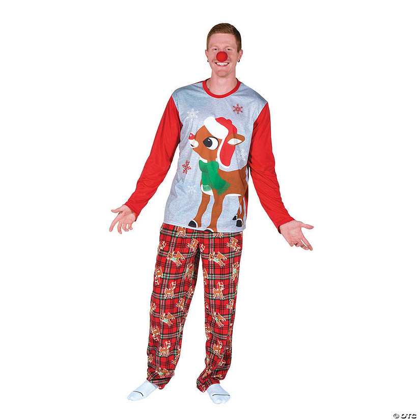Men&#39;s Rudolph the Red-Nosed Reindeer<sup>&#174;</sup> Pajamas Audio Thumbnail