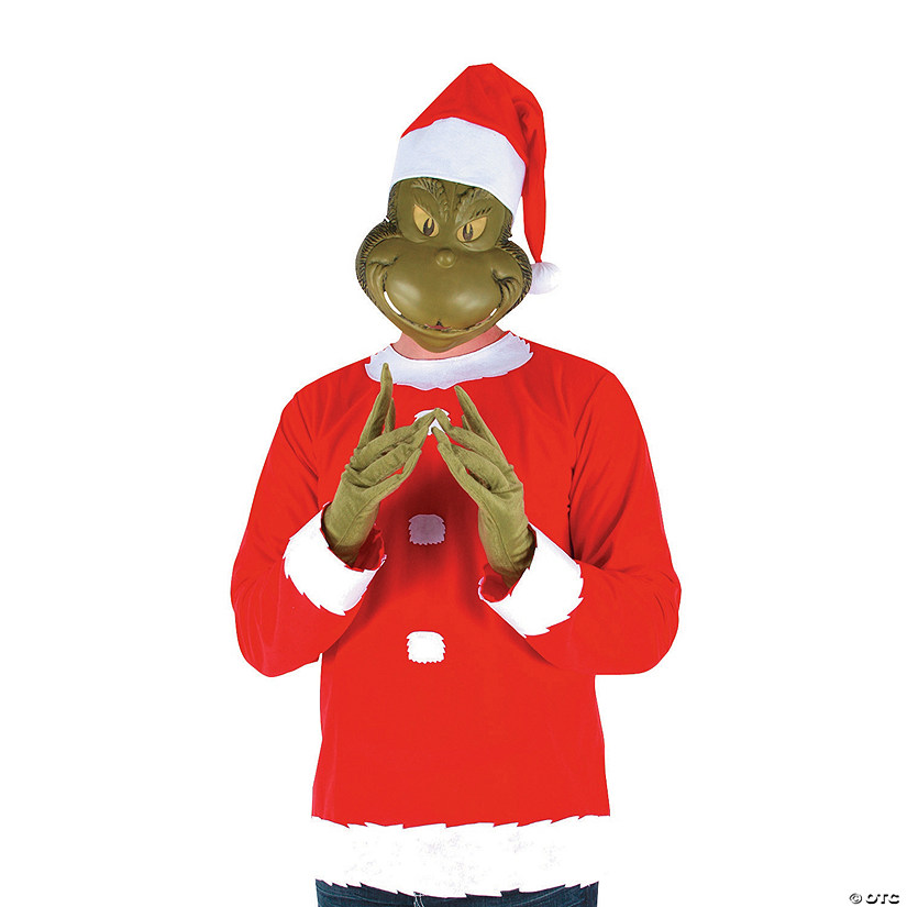 Men's The Grinch Santa Costume - Small/Medium Audio Thumbnail