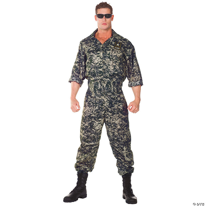 Men's US Army Jumpsuit Costume