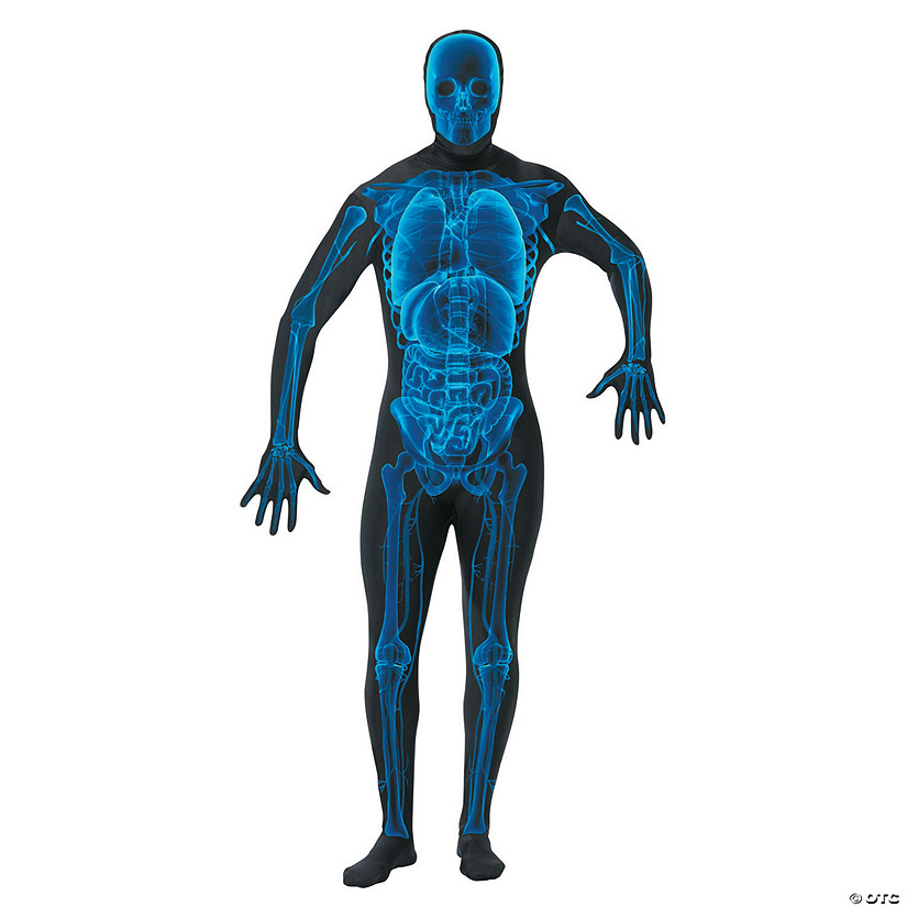 Men's X-Ray Skin Suit Costume