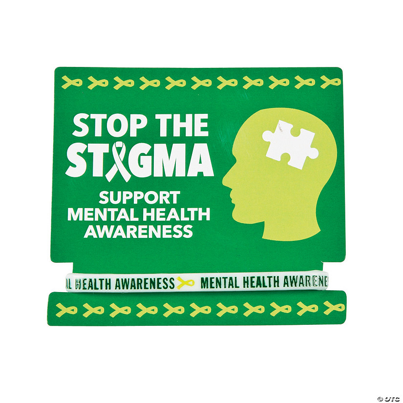 Mental Health Awareness Rubber Bracelets with Card Audio Thumbnail