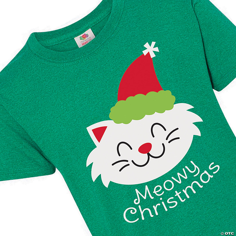Meowy Christmas Youth T-Shirt Image Thumbnail