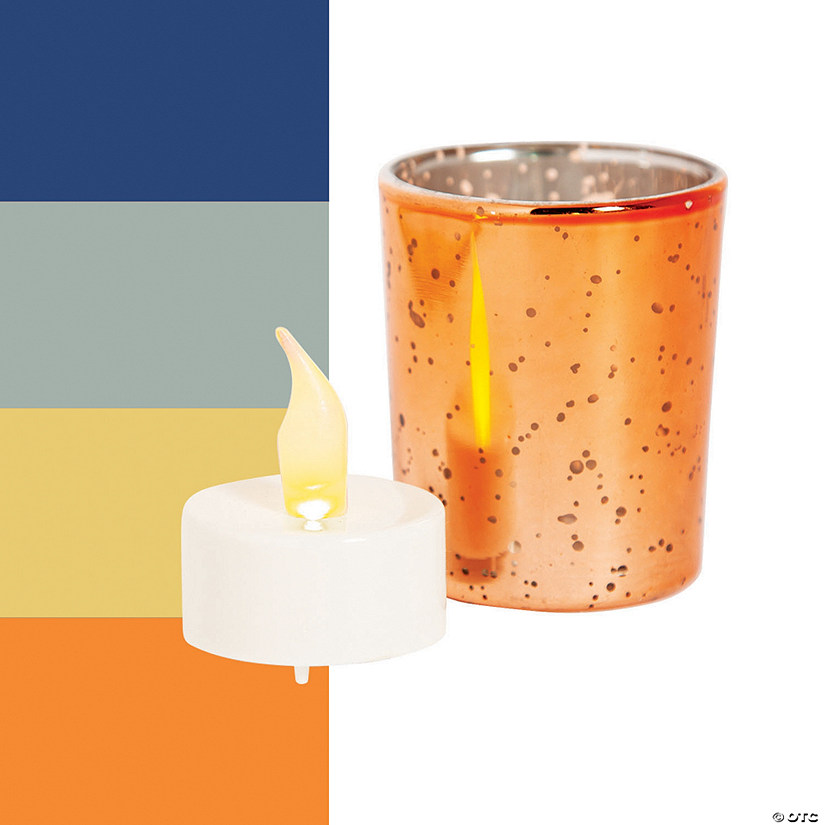 Mercury Glass Votive Candle Holders with Battery-Operated Candles Audio Thumbnail