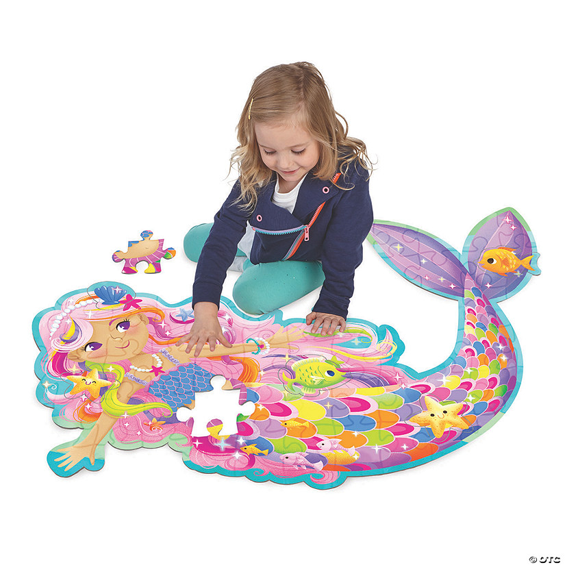 Mermaid Floor Puzzle Image Thumbnail