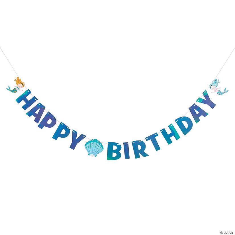 Mermaid Happy Birthday Banner