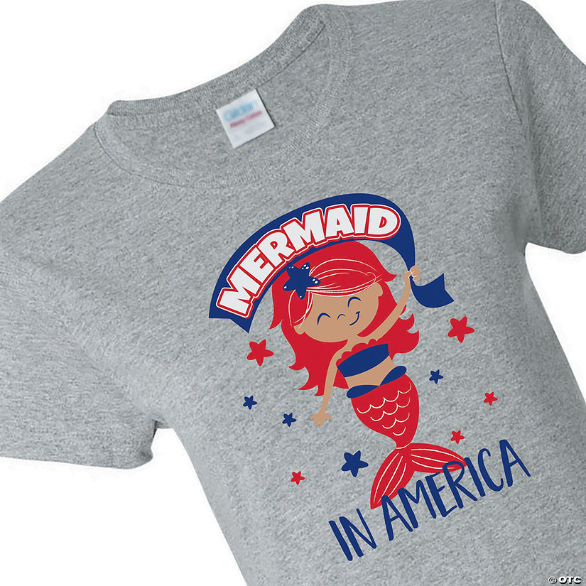 Mermaid in America Youth T-Shirt Image Thumbnail