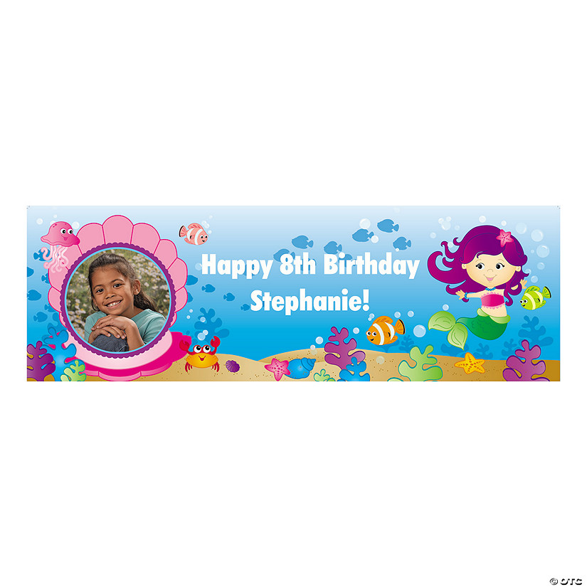 Mermaid Party Custom Photo Banners