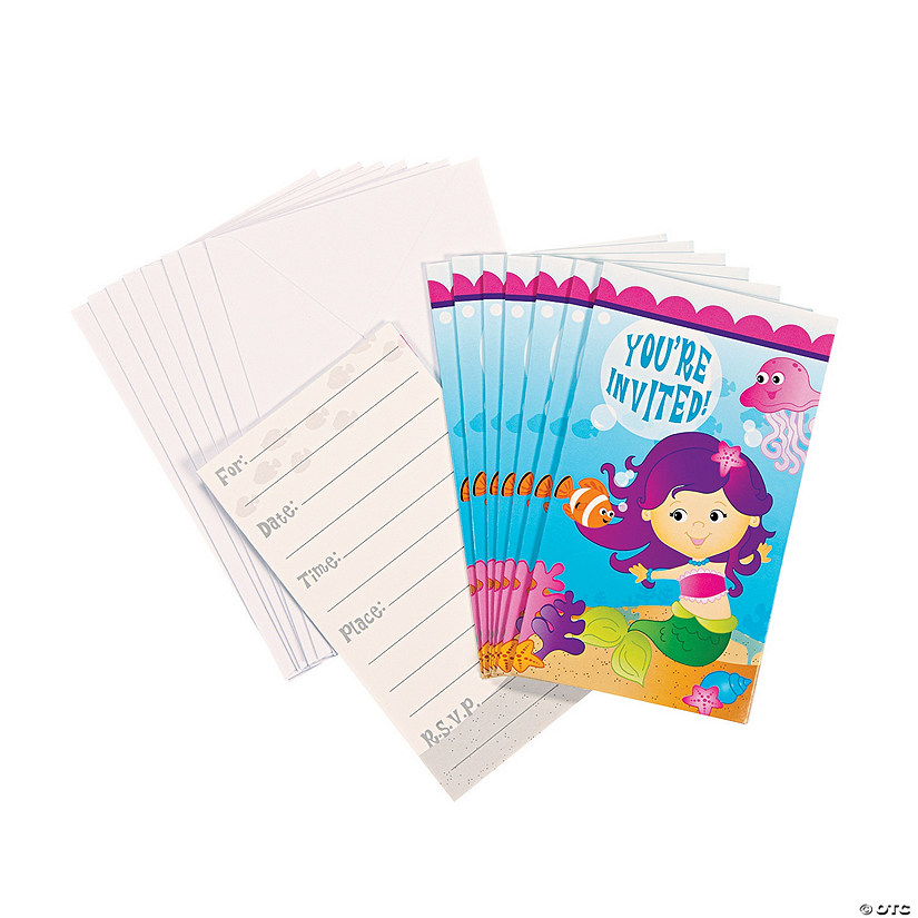mermaid party invitations discontinued