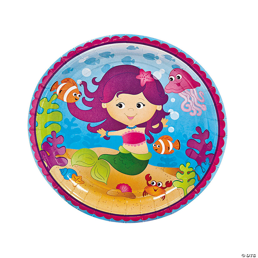 mermaid-party-paper-dinner-plates~70_9730a Mermaid Party Paper Dinner Plates