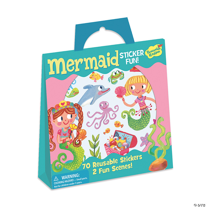 Mermaid Reusable Sticker Tote Image Thumbnail