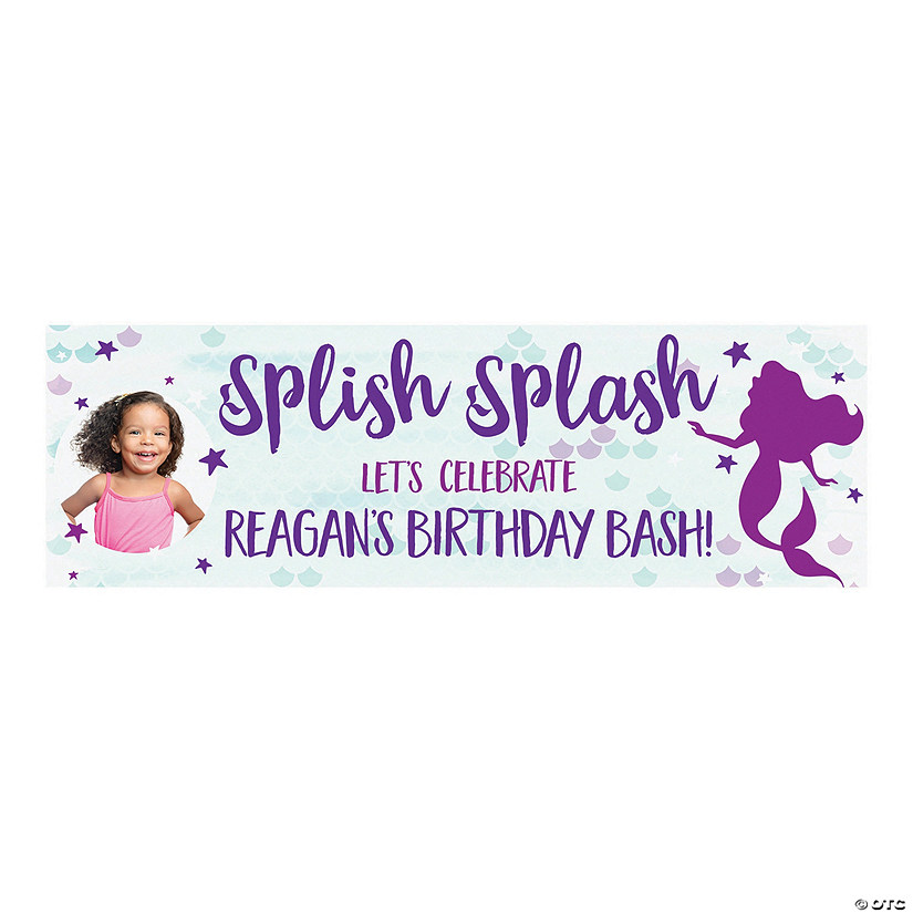 Mermaid Sparkle Party Photo Custom Banner Audio Thumbnail