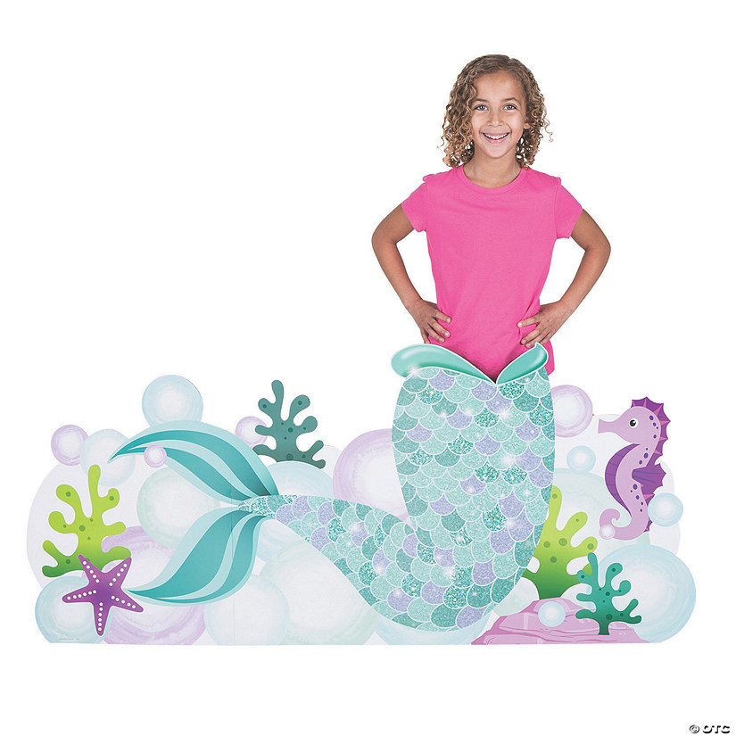 Mermaid Sparkle Tail Photo Booth Cardboard Stand-Up Audio Thumbnail