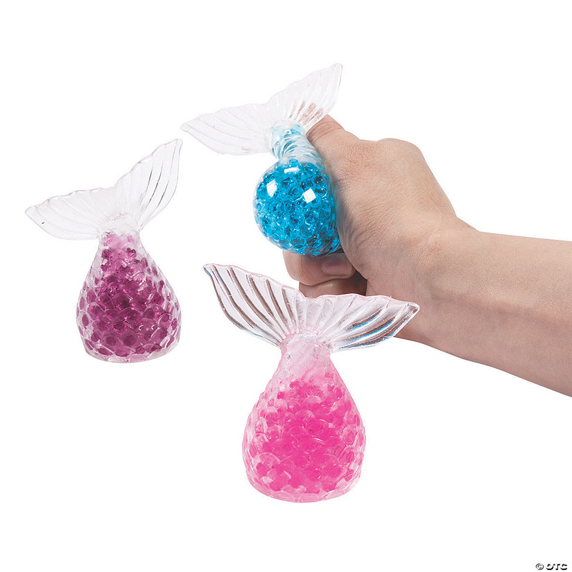 Mermaid Tail Water Bead Squeeze Toys Image Thumbnail