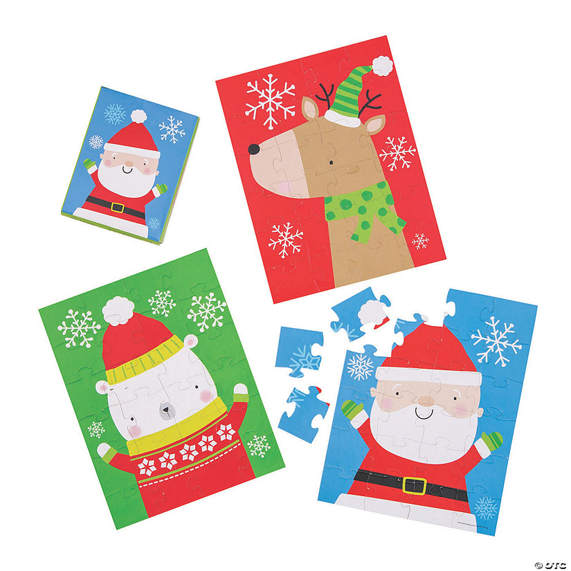 Merry & Bright Christmas Puzzles Image Thumbnail