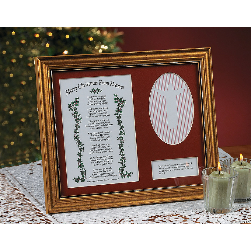 merry christmas from heaven8482 picture frame with poem